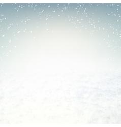 Snow environment vector image vector image