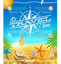 Vacation travel and summer holidays design vector image vector image