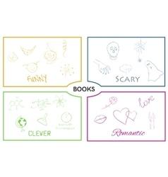 book categories Book genres vector image