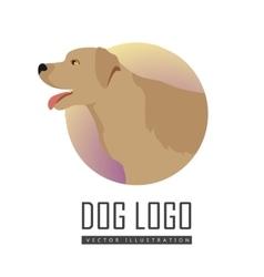 Golden Retriever Dog Logo on White Background vector image