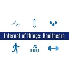 IoT - Healthcare vector image