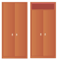 Light-colored simple wardrobe and wardrobe with vector image
