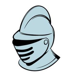 medieval helmet icon cartoon vector image vector image