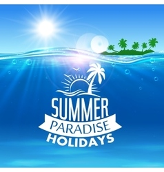 Summer holiday icon for travel and vacation design vector image