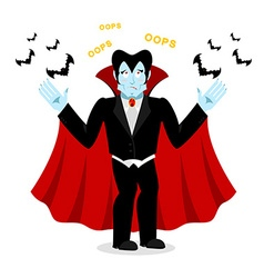 Surprised Dracula vector image vector image