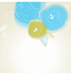 Festive floral background abstract cute flowers vector image