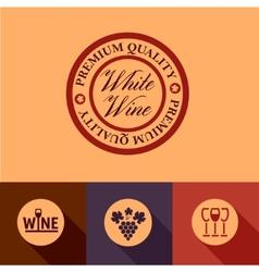 flat wine menu icons vector image vector image