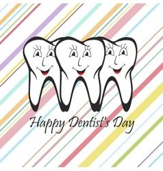 Happy Dentist Day vector image