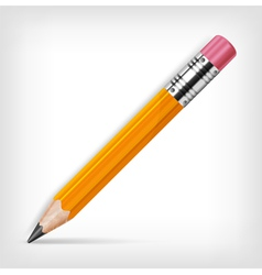 pencils with eraser vector image vector image