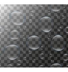 Realistic Transparent water bubbles 3d set soap vector image