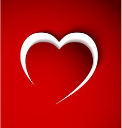 red heart made from paper vector image