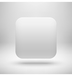 Technology White Blank App Icon Template vector image vector image