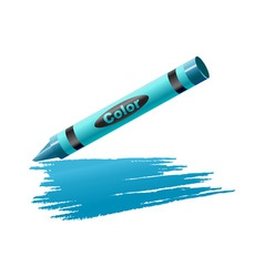 vector illustration of crayon drawing on the sheet vector image