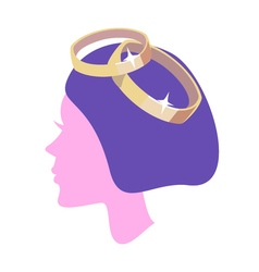 Women profile with ring vector