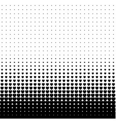 abstract halftone seamless border from hearts vector image
