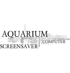 aquarium plants text word cloud concept vector image