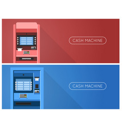 Atm machine in bank or office vector