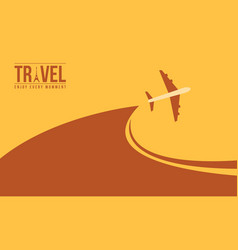 Background travel design with airplane vector