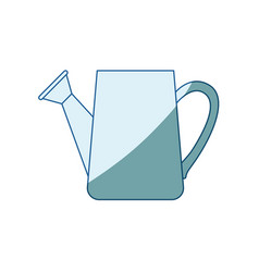 blue shading silhouette of watering can vector image