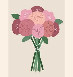 bouquet pink ranunculus vector image