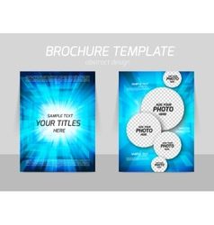Bright flyer design vector image vector image