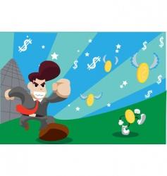 business cartoon vector image