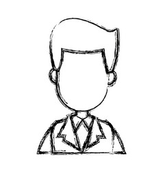 businessman character face male people image vector image
