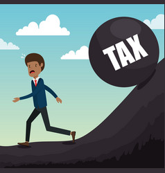 Businessman with tax set icons vector