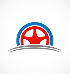 car tyre automotive logo vector image