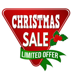 christmas sale label or sticker vector image