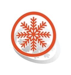 Cold sign sticker orange vector image