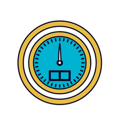 Color sections silhouette water meter closeup vector
