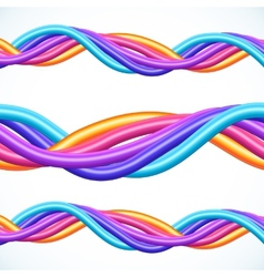Colorful plastic twisted cables background vector image