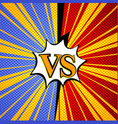 Comic versus background vector