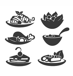 common food collection vector image