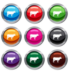 cow set 9 collection vector image