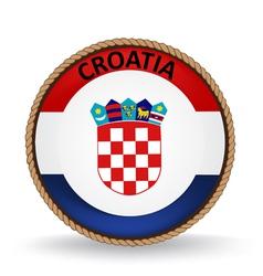 Croatia seal vector