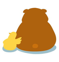 Duck soothe bear cartoon character vector