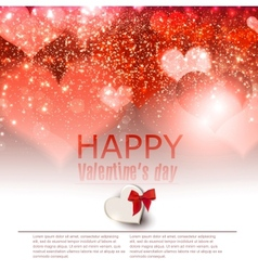 Elegant red background with hearts and place for vector image