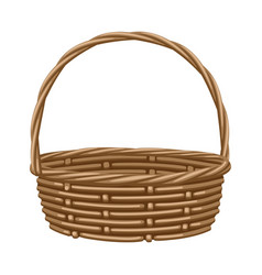 Empty basket for vegetables vector