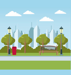 empty city park vector image