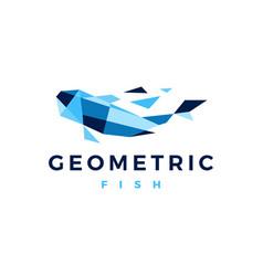 Fish geometric polygonal logo icon vector