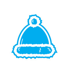 Flat color beanie icon vector