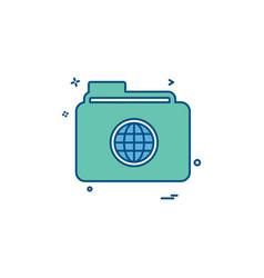 folder icon design vector image