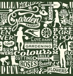 garden plants tools and gardeners wallpaper vector image