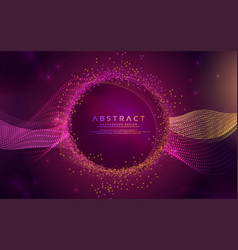 glowing abstract aurora modern background design vector image