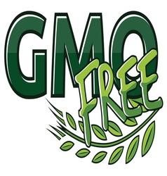 gmo free label vector image