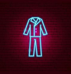 groom suit neon sign vector image