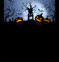 halloween silhouette background vector image