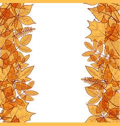 Hello autumn borders vector